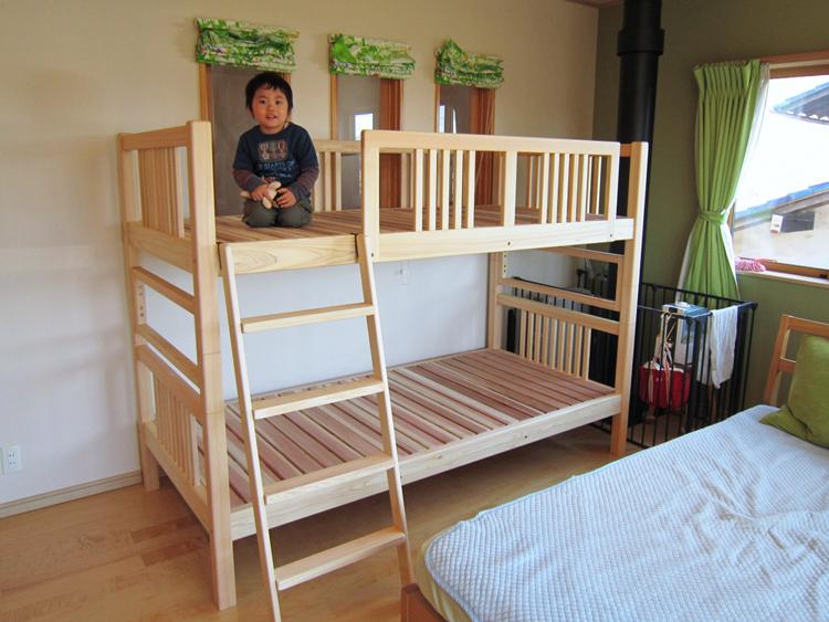 ひのき二段ベッドお客様使用例