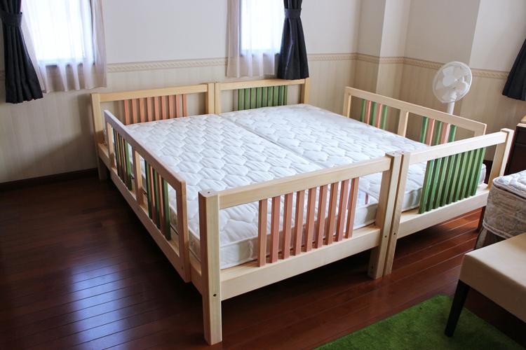 ひのき二段ベッドシングルお客様使用例