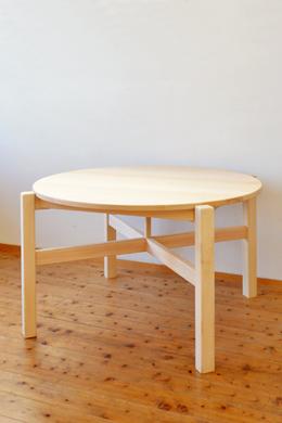 アレンジオーダーキッズ丸テーブル風ダイニングテーブル製作実例