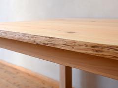 サイズオーダーひのき耳つきテーブル製作実例
