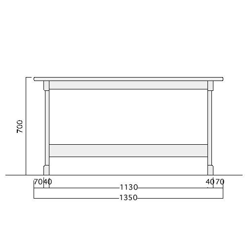 ベンチテーブル詳細サイズ
