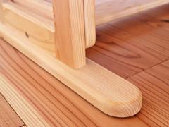 安定感のあるビーンズテーブル脚
