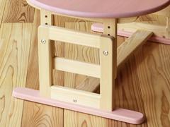高さ調節式ひのき無垢テーブル脚