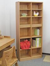 木製スリム書棚