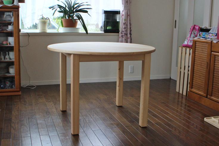 まるいダイニングテーブル[100/70]お客様使用例