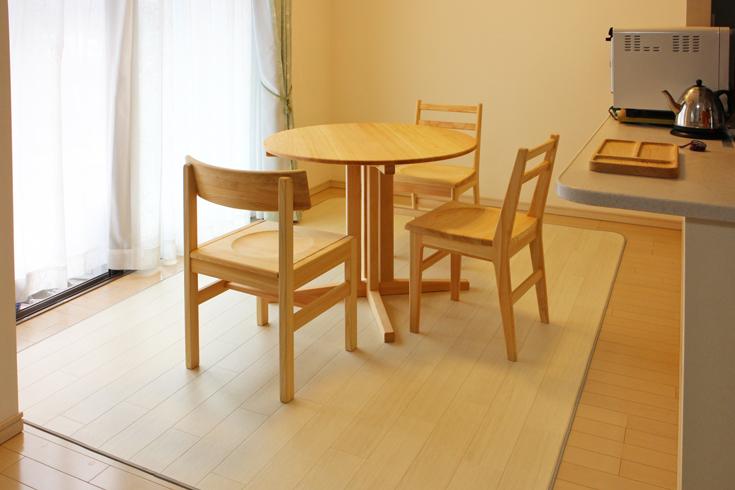 円卓ダイニングテーブル[90/70]お客様使用例