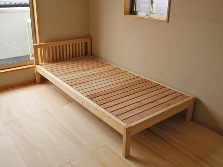 ひのきシングルベッドイメージ