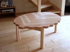 サイズオーダーフロアテーブル製作実例