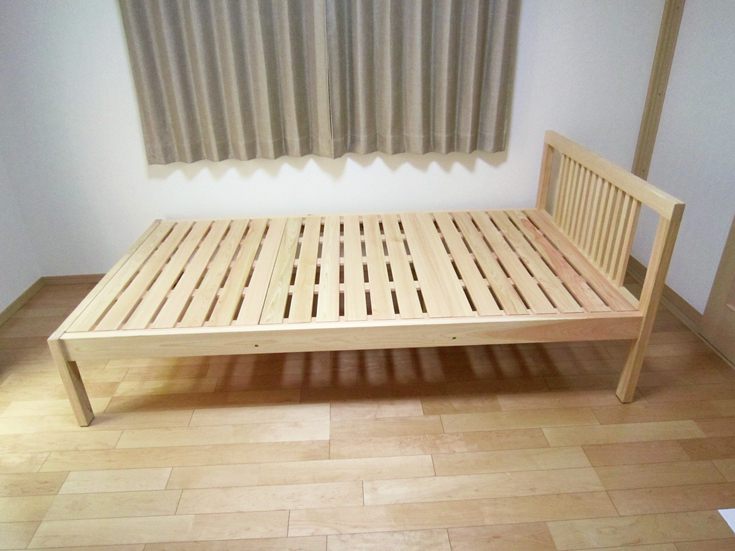 サイズオーダーひのきベッドイメージ