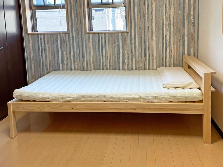 ひのき棚付きシングルベッドお客様使用例