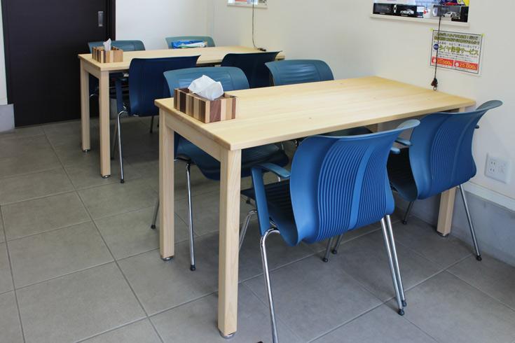 ヒノキシンプルテーブルお客様使用例