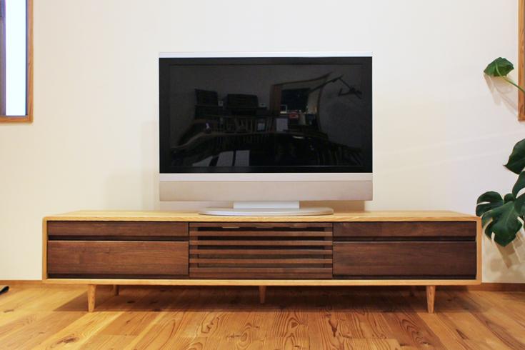 180cmウォールナットTVボード180ハイタイプ