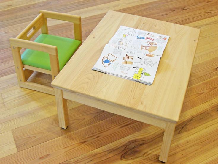 ヒノキ無垢折り脚テーブルお客様使用例