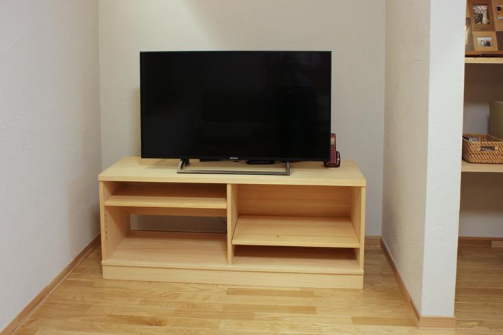 ヒノキテレビボード幅130cmお客様使用例